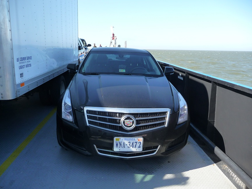 21-Apr-14 - Cadillac on Ocracoke ferry.JPG