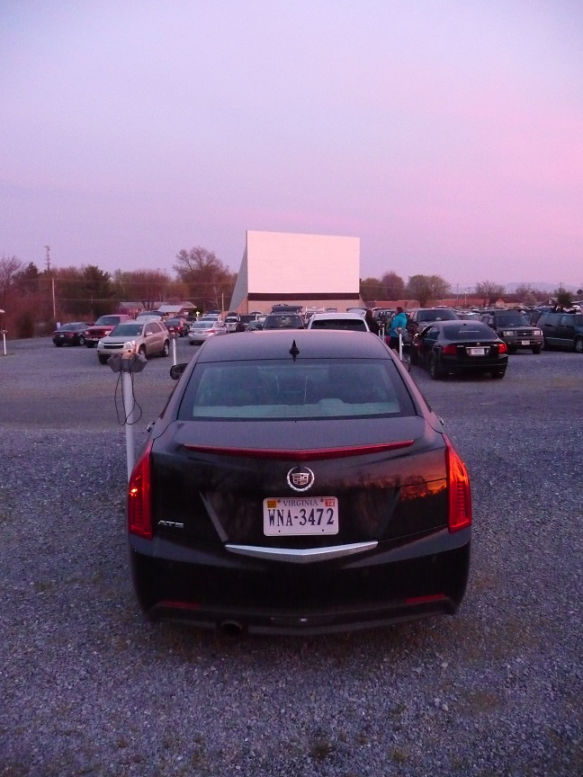 19-Apr-14 - Cadillac at the Drive-in - sunset.JPG