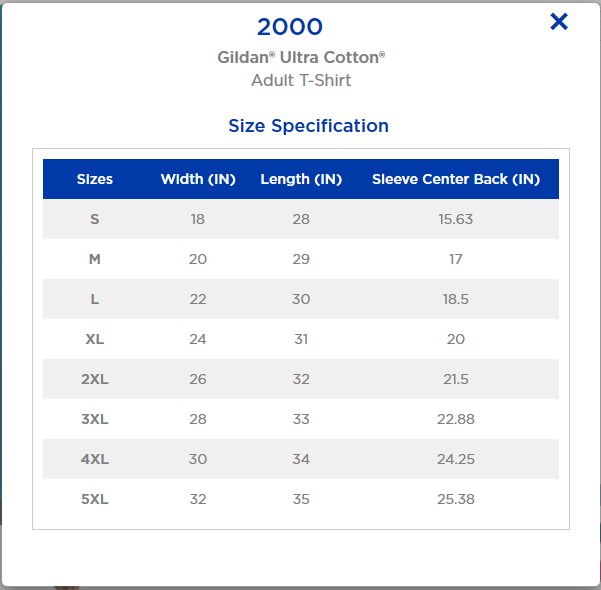 Gildan Ultra size chart.png