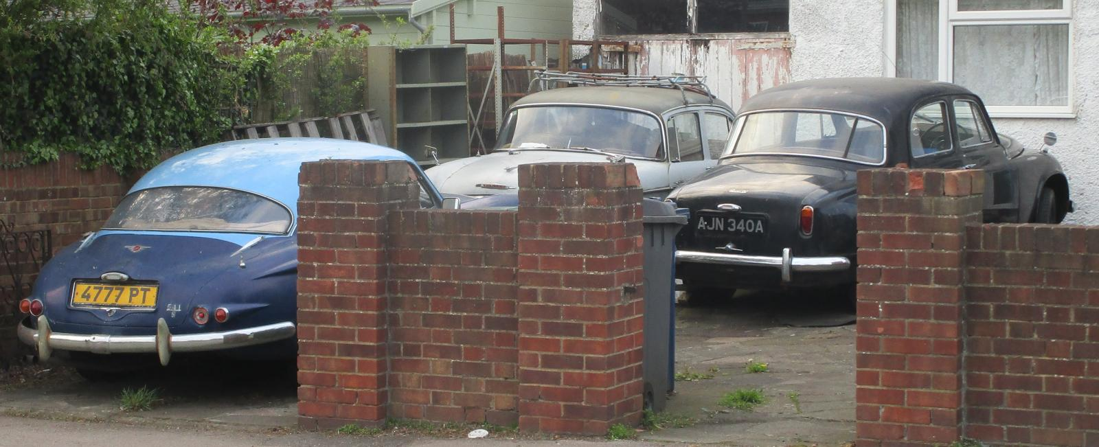 1961 Jensen 541S and 1956 Rover 90.JPG