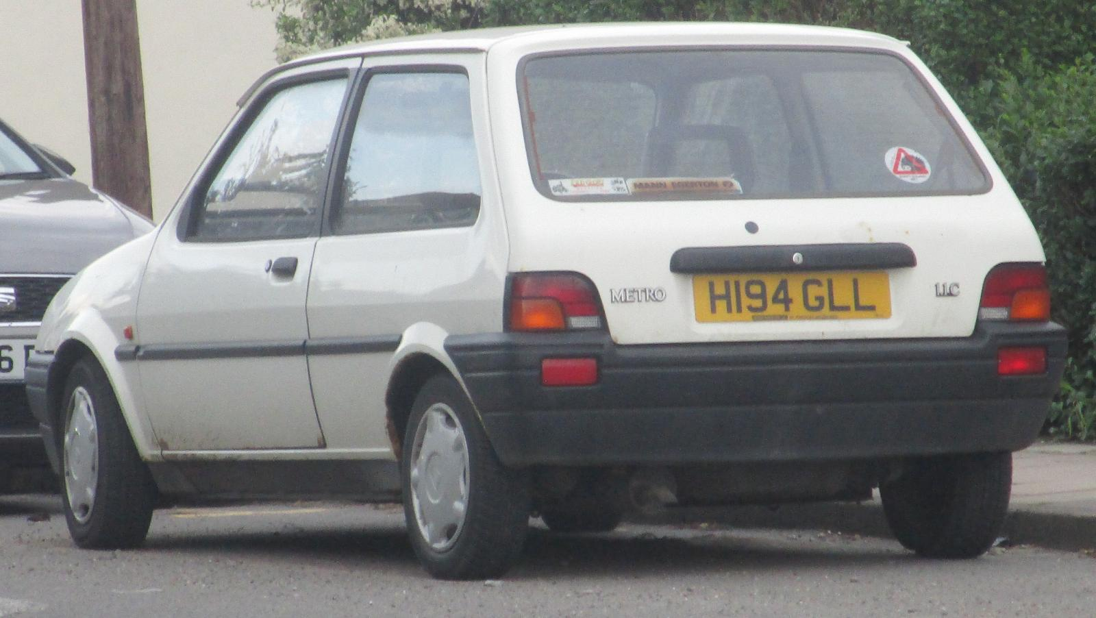 One owner 1991 Rover Metro 1.1 C.JPG