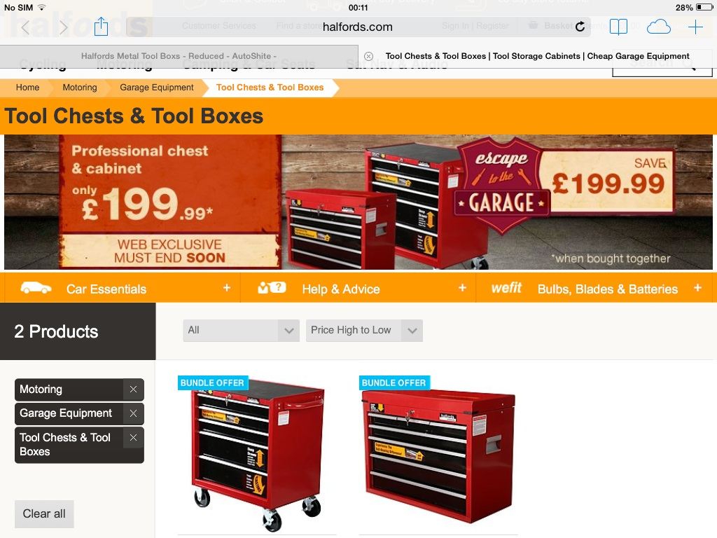 halfords professional tool chests pricey but half price. Black Bedroom Furniture Sets. Home Design Ideas