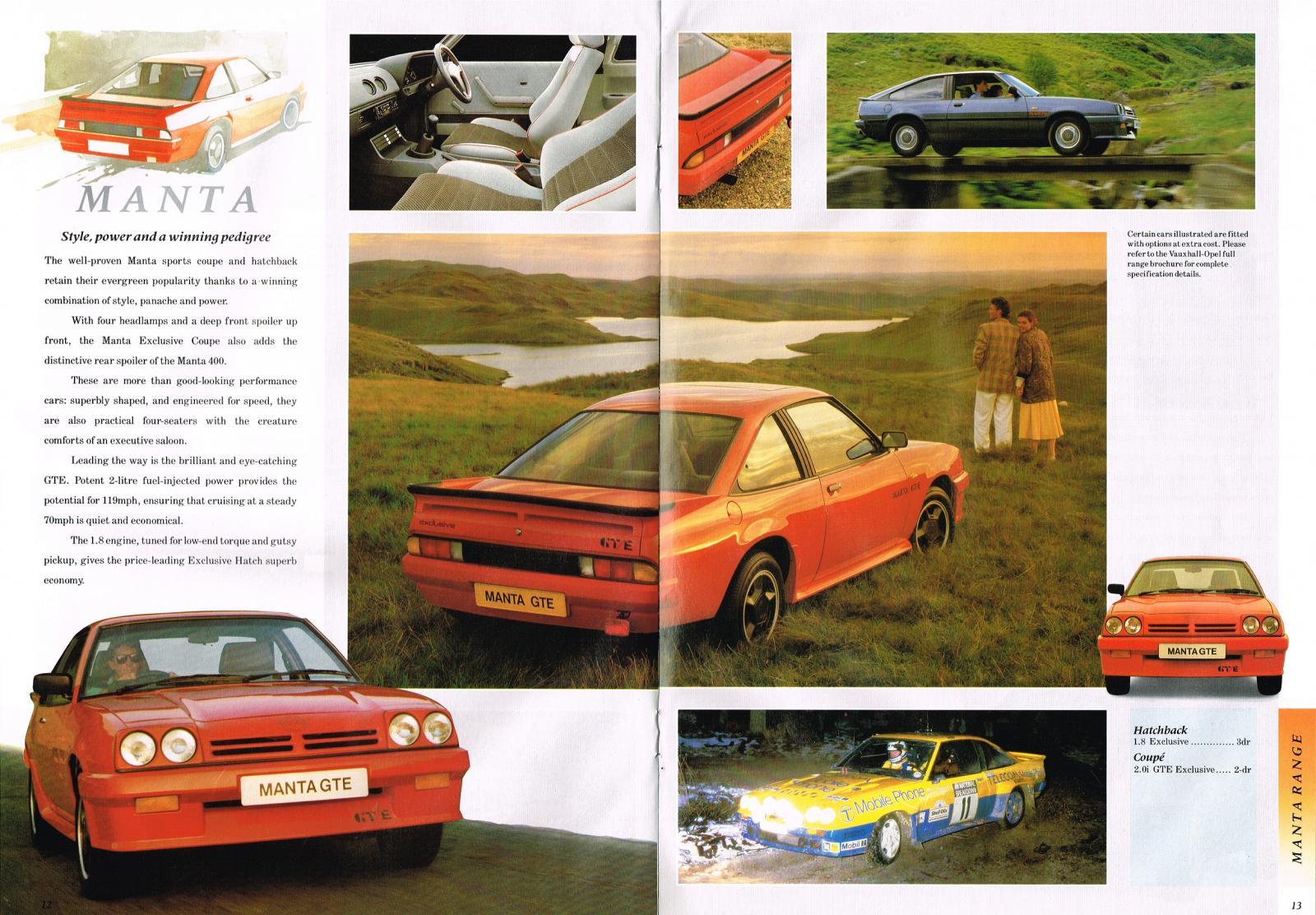 Vauxhall Opel range Oct 1987 012-013 Manta.jpg